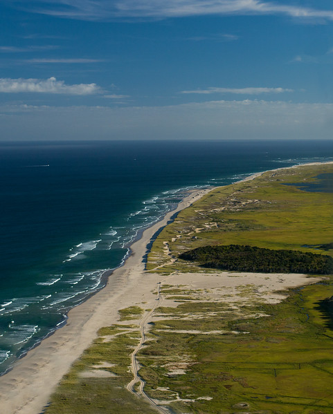 Nauset Beach and Pleasant Bay from the air