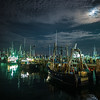 fishing boats in the moonlight MacMillan Wharf