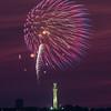 July 4 fireworks over Pilgrim Monument Provincetown