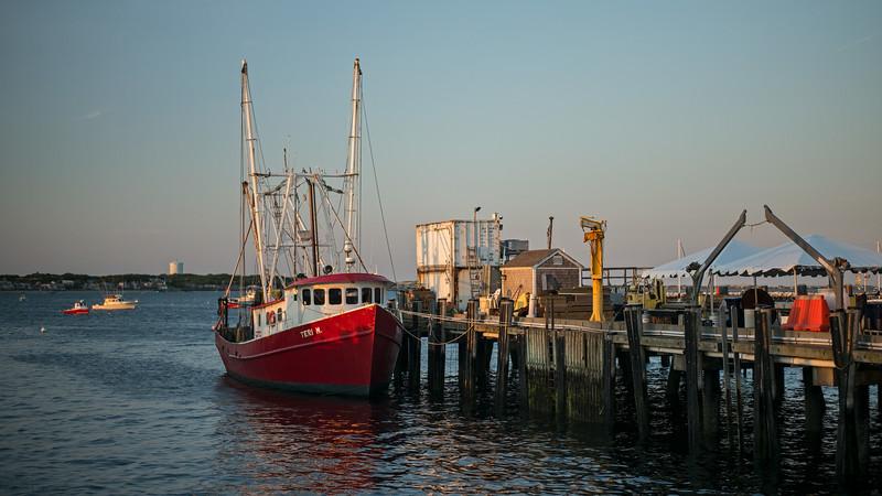 Teri M at dock Provincetown Harbor