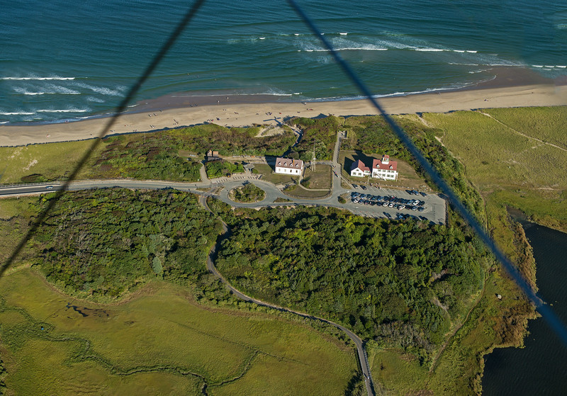 Nauset beach HQ and Coast Guard Station from the air