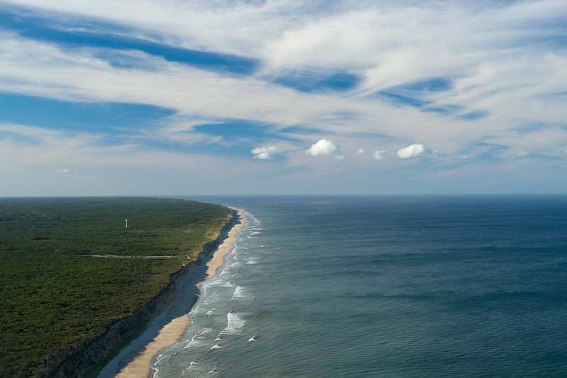 South Wellfleet Atlantic coast from the air