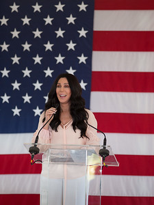Cher at Hillary Clinton rally in Provincetown August 2016