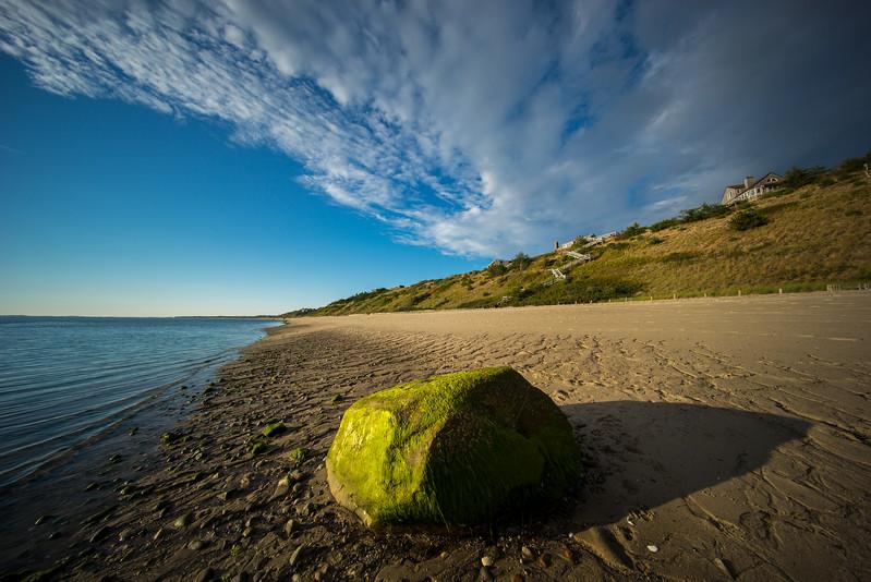 moss-covered boulder Corn Hill Beach 10mm