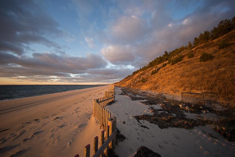 zigzag fence bronze sunset