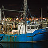 Berco de Jesus fishing boat Ptown harbor at night