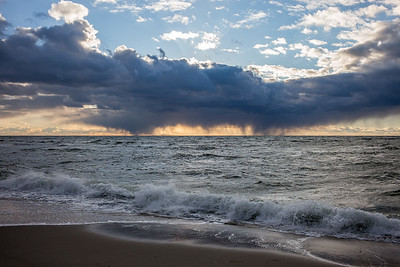 cloudburst on the horizon Cape Cod Bay December