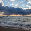 cloudburst on the horizon Cape Cod Bay December