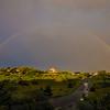 rainbow over Corn Hill with car