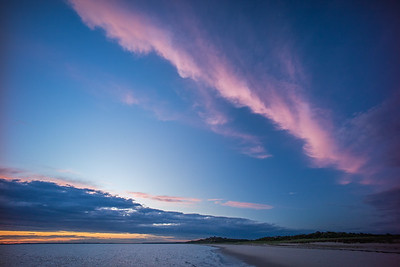 colorful clouds above Corn Hill Beach