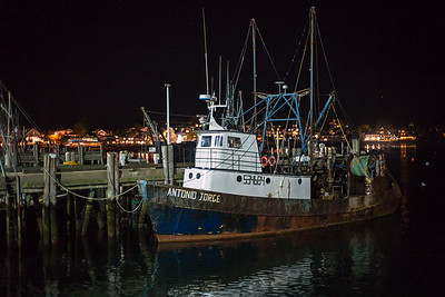 Antonio Jorge fishing boat Provincetown Harbor at night