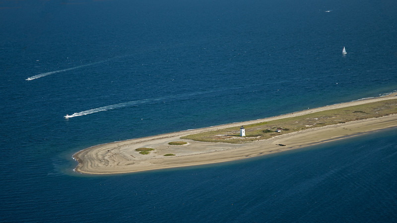 Long Point lighthouse from the air