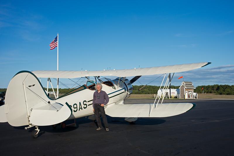 Steve with Waco biplane Chatham airport