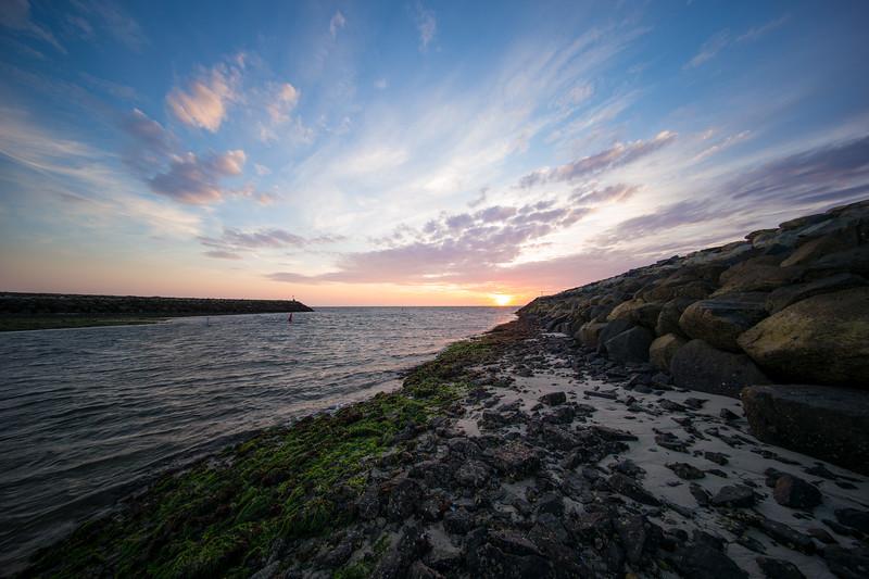 low tide autumn sunset Pamet channel