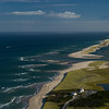 Nauset Coast Guard station and inlet to Nauset Marshes