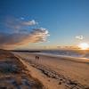 cold sunset winter walk Corn Hill Beach