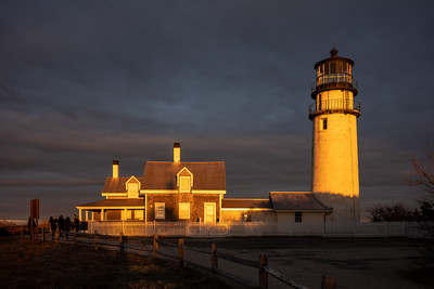 gold and gun metal sunset Highland Light