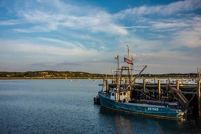 Wellfleet harbor with Ginny Lu