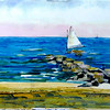 """Jetty At West Dennis Beach<br /> 11"""" x 15"""" Sold<br /> Prints Available"""