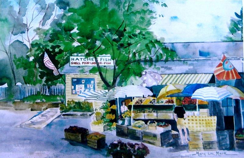 "Hatche's Fish Market - Wellfleet<br /> 15"" x 22"" Sold<br /> Prints Available"