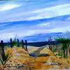 "Path To Mayflower Beach<br /> 11"" x 15"" Price: $300. Framed"