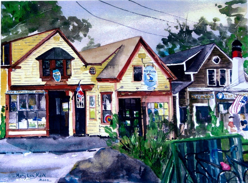 """Wellfleet Shops<br /> 11"""" x 15"""" Sold<br /> Prints Available"""