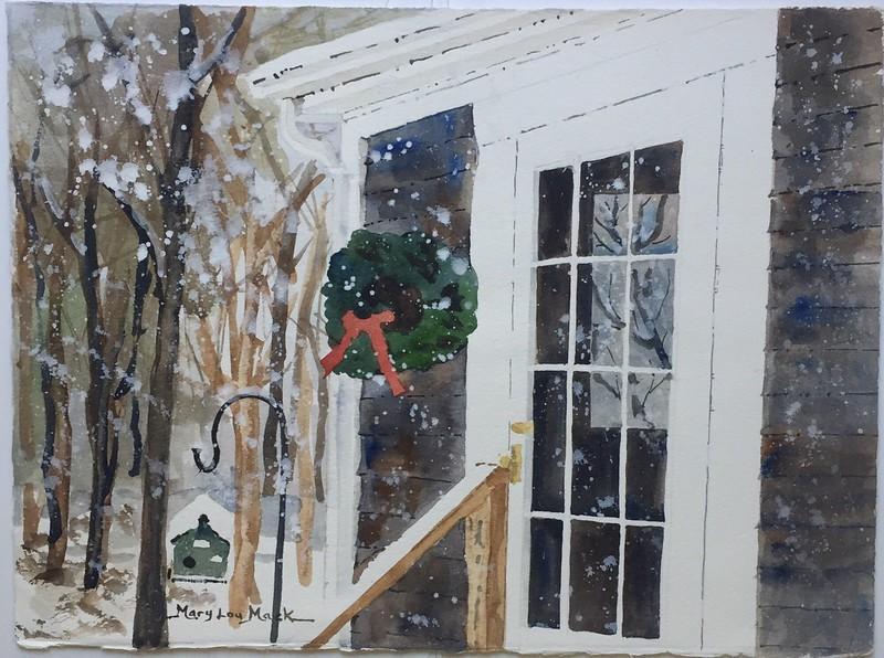 Christmas On Cape Cod, Backyard at Homer Lane