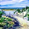 "Pathway To Chaplin Beach<br /> 11""x15"" Price: $275."