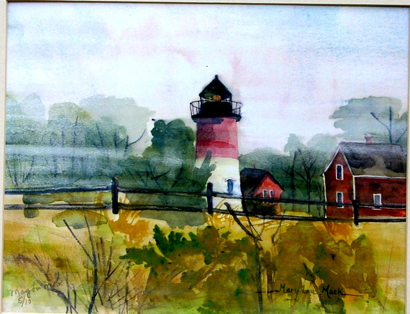 """Nauset Lighthouse On A Foggy Day<br /> 11"""" x 15"""" Sold<br /> Prints Available"""