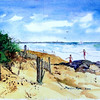 """Playing On The Rocks At Sea Street Beach<br /> 11"""" x 15"""" Sold <br /> Prints Available"""