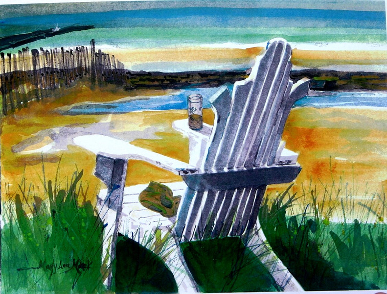 """Overlooking Cold Storage Beach<br /> 11"""" x 15"""" Sold<br /> Prints Available"""