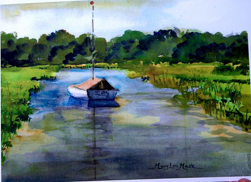"""Paine's Creek In Brewster<br /> 11"""" x 15"""" Sold <br /> Prints Available"""