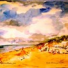 """Summertime At Cold Storage Beach<br /> 11"""" x 15"""" Price $175. Unframed"""