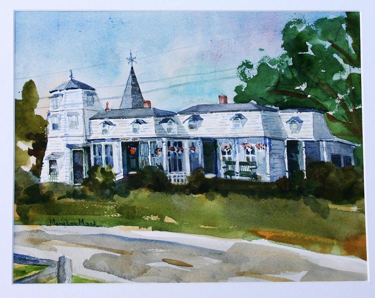 """The Morning Glory Inn- Wellfleet<br /> 11"""" x 15""""<br /> Price: $100. Unframed"""