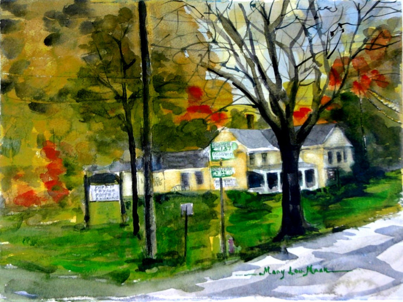 """Town 'Ho Antiques On 6A<br /> 11"""" x 15"""" Sold<br /> Prints Available"""