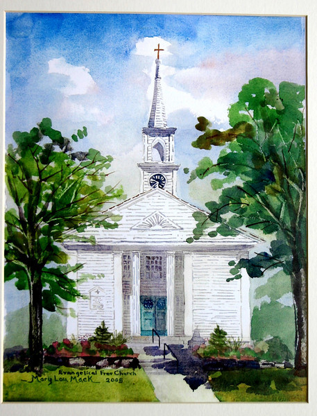 """Evangelical Free Church - East Dennis<br /> 11"""" x 15"""" Sold<br /> Prints Available"""