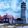 """Highland Lighthouse At Truro<br /> 22"""" x 30"""" Sold<br /> Prints Available"""