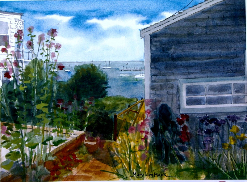 """Provincetown From Commerical Street<br /> 11"""" x 15"""" Sold<br /> Prints Available"""