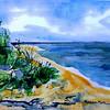 "Seaside At Chalpin Beach<br /> 11"" x 15"" Price: $250. Framed"