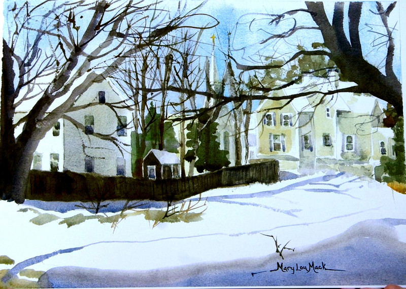 """A Quivet View In Winter - Dennis,MA.<br /> 11"""" x 15"""" Sold<br /> Prints Available"""