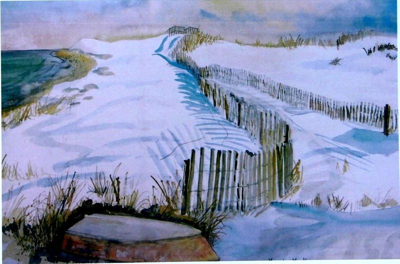 "Cape Cod In Winter<br /> 22""x30"" Price:$750. Framed"