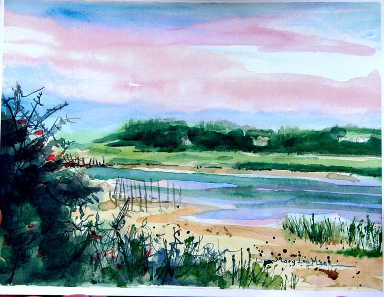 """Truro Wetlands<br /> 11"""" x 15"""" Sold<br /> Prints Available"""