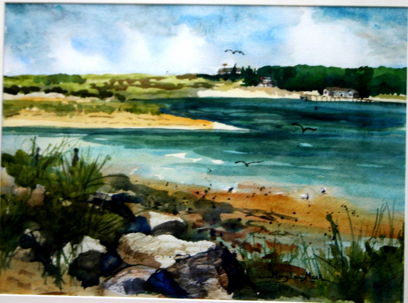 """View Of Bass River<br /> 11"""" x 15"""" Price:$350. Framed"""