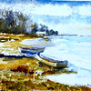 """The Cove At Orleans In Winter<br /> 11"""" x 15"""" Sold <br /> Prints Available"""