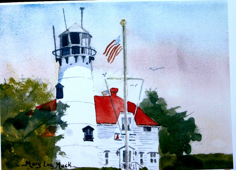 "Chatham Lighthouse<br /> 5.5""x7.5"" Price: $200.Framed"