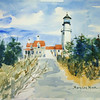 "Highland Lighthouse In Winter<br /> 11"" x 15"" Price: $275. Framed"