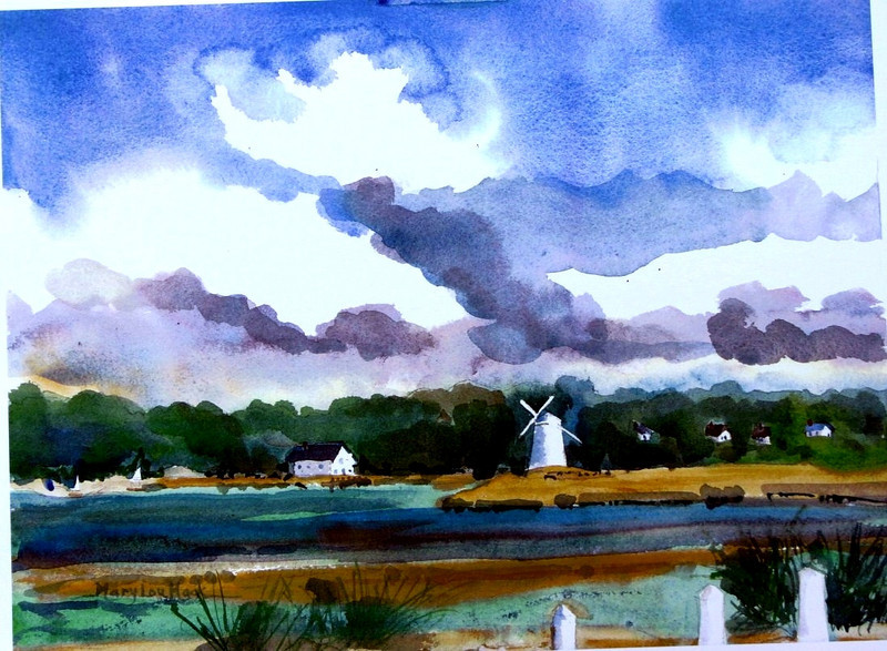 """Bass River Windmill<br /> 11""""x15' Sold<br /> Prints Available"""