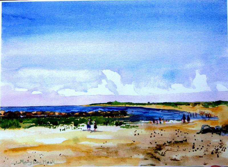 "Corporation Beach On A Sunny Day<br /> 11"" x 15"" Price:$275. Framed"