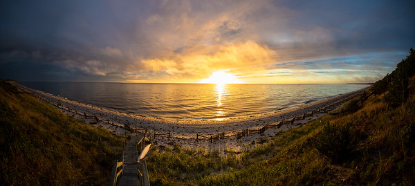 Corn Hill Beach birthday sunset panorama