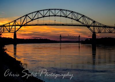 Bourne Bridge, Bourne Massachusetts Jan 2015